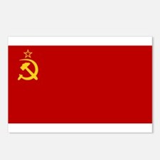 USSR National Flag Postcards (Package of 8)
