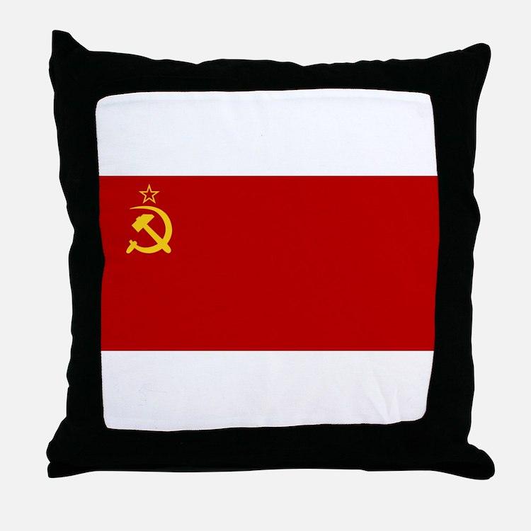 USSR National Flag Throw Pillow