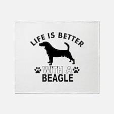Beagle vector designs Throw Blanket