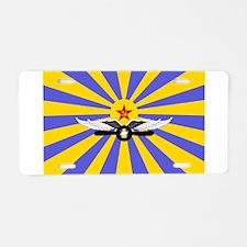 USSR Air Force Flag Aluminum License Plate