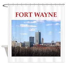 fort wayne Shower Curtain