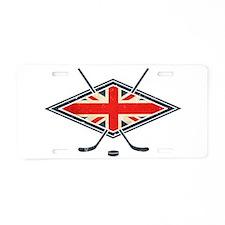 British Ice Hockey Flag Aluminum License Plate