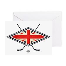 British Ice Hockey Flag Greeting Card
