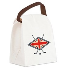 British Ice Hockey Flag Canvas Lunch Bag