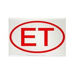 Egypt - ET Oval Rectangle Magnet (10 pack)