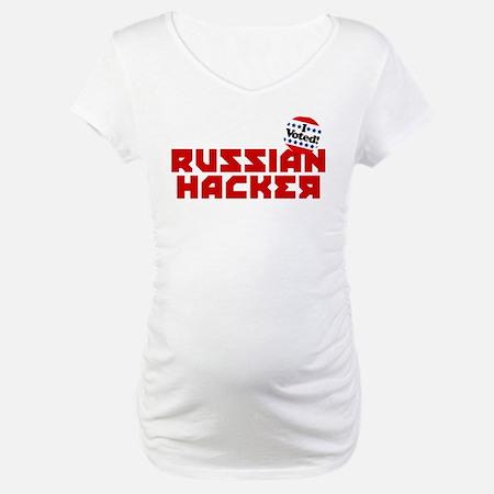 Russian Hacker Maternity T-Shirt