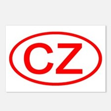 Czech Republic - CZ Oval Postcards (Package of 8)