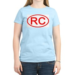 China - RC Oval Women's Pink T-Shirt