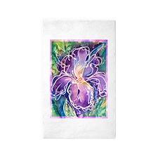 Iris! Beautiful, purple flower, 3'x5' Area Rug