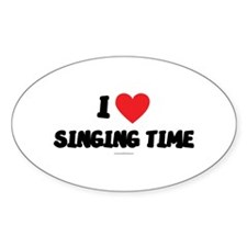 I Love Singing Time - LDS T-Shirts Decal