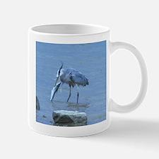 Great Blue Heron catching cat Fish Mug