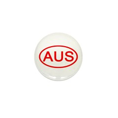 Australia - AUS Oval Mini Button (10 pack)
