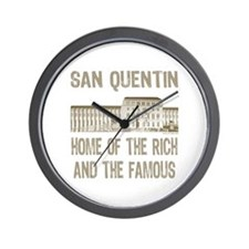 SAN QUENTIN HOME RICH & FAMOUS Wall Clock