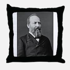 James Garfield Throw Pillow