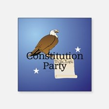 """Constitution Party Square Sticker 3"""" x 3"""""""