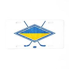 Ukrainian Ice Hockey Flag Aluminum License Plate