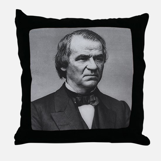 Andrew Johnson Throw Pillow