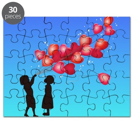 love and balloons Cat Forsley Designs Puzzle
