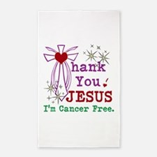 Thank You JESUS I'm Cancer Free 3'x5' Area Rug