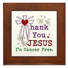 Thank You JESUS I'm Cancer Free Framed Tile