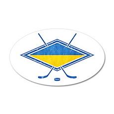 Ukrainian Ice Hockey Flag Wall Decal