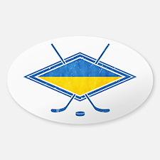 Ukrainian Ice Hockey Flag Decal