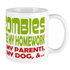 Zombie Ate Homework Mug