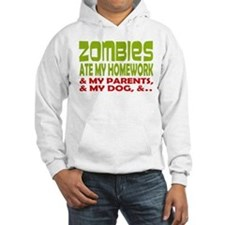 Zombie Ate Homework Hoodie