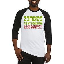 Zombie Ate Homework Baseball Jersey