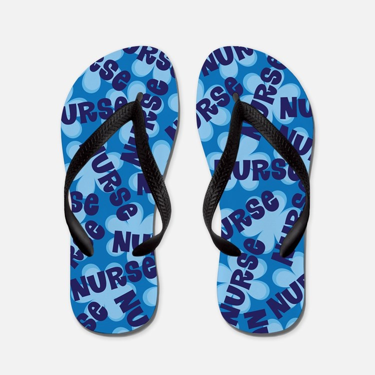 Nurse Flowered Flip Flops
