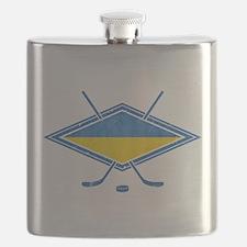 Ukrainian Ice Hockey Flag Flask