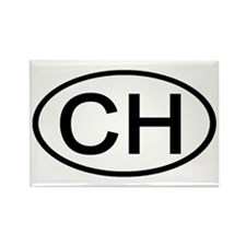 Switzerland - CH Oval Rectangle Magnet (100 pack)