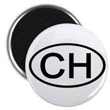 """Switzerland - CH Oval 2.25"""" Magnet (10 pack)"""