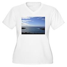 Hawaii Coastline Plus Size T-Shirt
