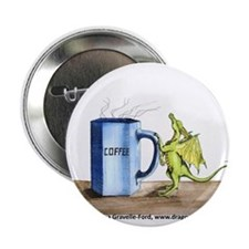 """Morning Coffee 2.25"""" Button"""