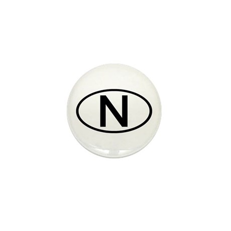 Norway - N Oval Mini Button