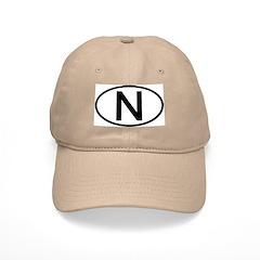 Norway - N Oval Baseball Cap