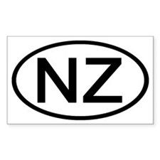 New Zealand - NZ Oval Rectangle Decal