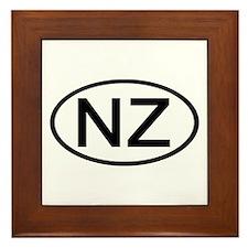 New Zealand - NZ Oval Framed Tile