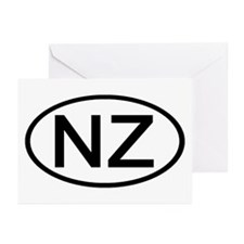 New Zealand - NZ Oval Greeting Cards (Pk of 10