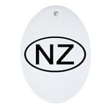 New Zealand - NZ Oval Oval Ornament