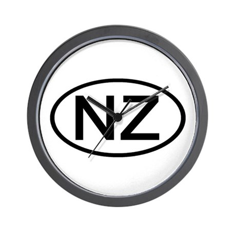 New Zealand - NZ Oval Wall Clock