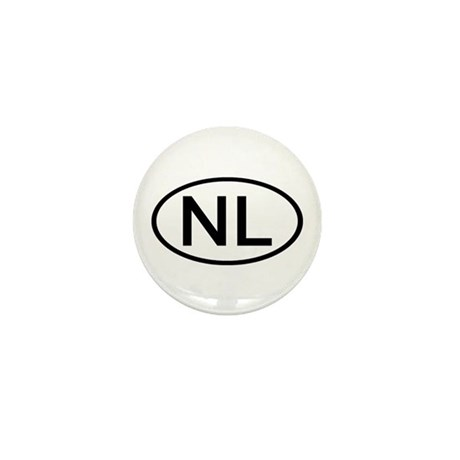 Netherlands - NL Oval Mini Button