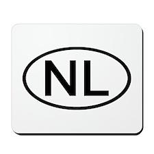 Netherlands - NL Oval Mousepad