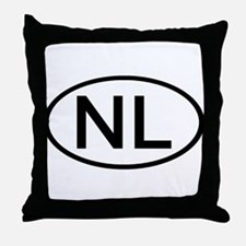 Netherlands - NL Oval Throw Pillow