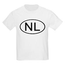 Netherlands - NL Oval Kids T-Shirt
