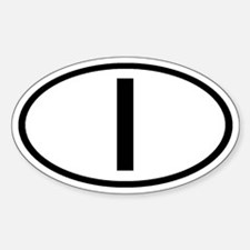 Italy - I Oval Oval Decal
