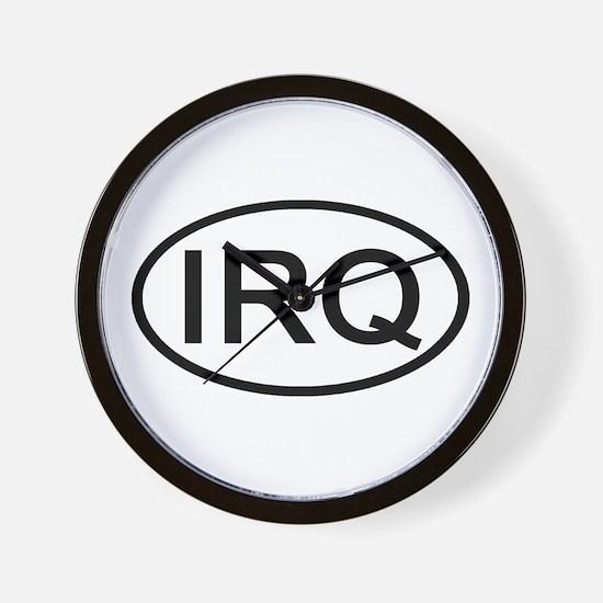 Iraq - IRQ Oval Wall Clock