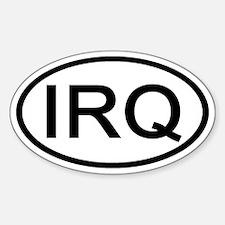 Iraq - IRQ Oval Oval Decal