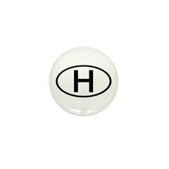 Hungary - H Oval Mini Button (10 pack)